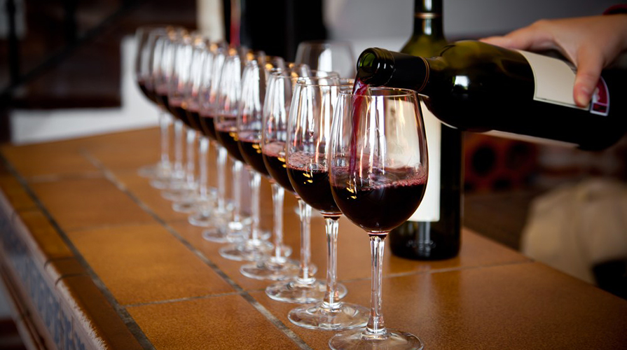 Degustacja wina - czerwone wino