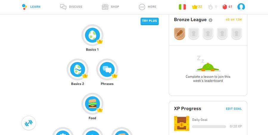 aplikacja do nauki języka włoskiego duolingo