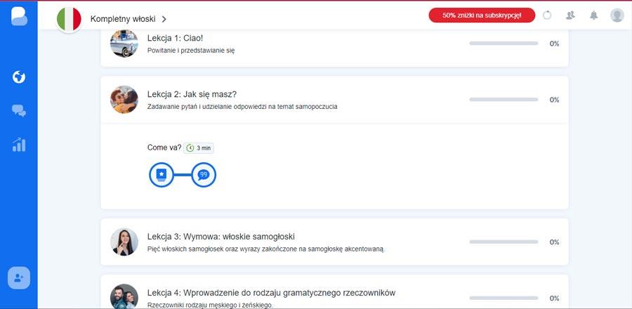 aplikacja do nauki włoskiego busuu