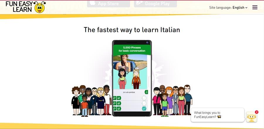 aplikacja do nauki włoskiego za darmo funeasylearn
