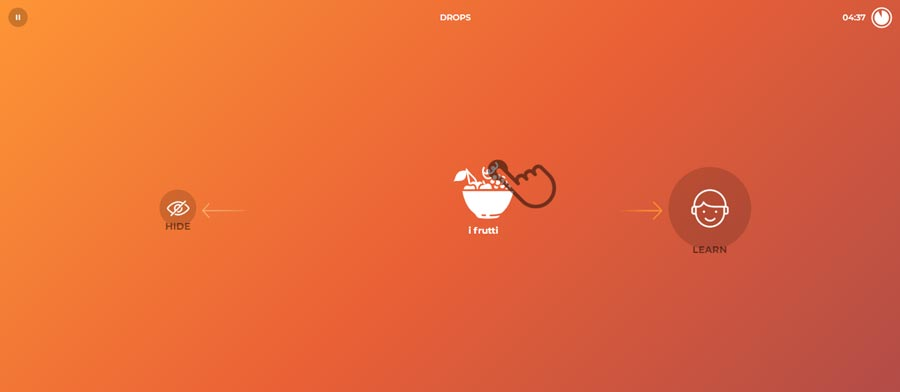 aplikacje do nauki języka włoskiego drops