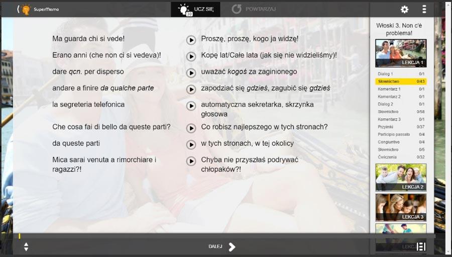 aplikacje do nauki języka włoskiego supermemo