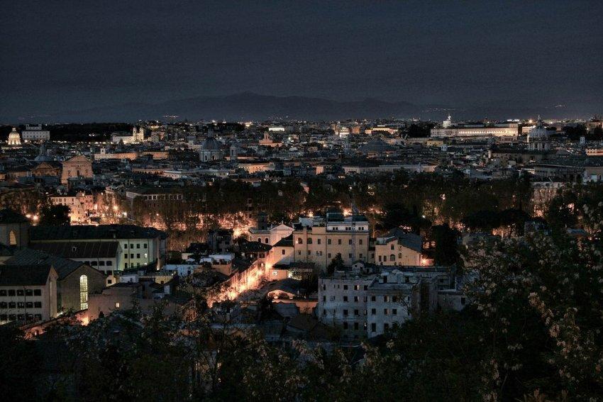 gianicolo rzym nocą co warto zobaczyć