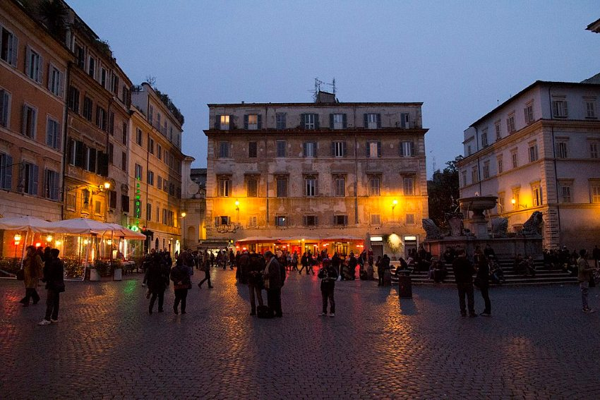 trastevere rzym nocą gdzie pójść