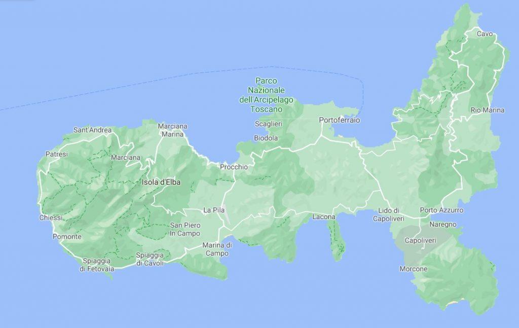 wyspa elba mapa